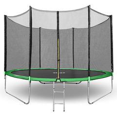 Батут Happy Jump 10ft PRO (312см) с внешней сеткой и лестницей