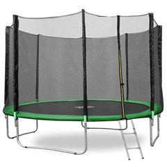 Батут Happy Jump 12ft PRO (374см) с внешней сеткой и лестницей