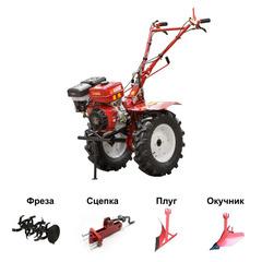 Культиватор бензиновый ASILAK SL-186 колеса 6.50-12 (18 л.с., шир. 115 см, колесо 6.50-12, без ВОМ, передач 2+1) (SL-186-6512) В Комплекте (фрезы, окучник, плуг, сцепка)