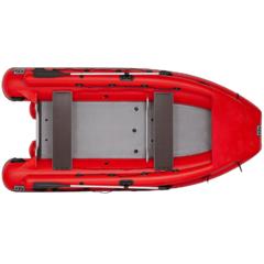 Лодка надувная ПВХ Фрегат M-430 FM L с многобаллонным дном под винтовой мотор с дейдвудом L, веслами, (креплением с помощью шнуровки к люверсным поясам)