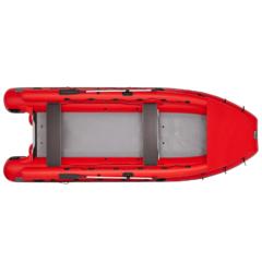 Лодка надувная ПВХ Фрегат M-550 FM L с многобаллонным дном под винтовой мотор с дейдвудом L, веслами, (креплением с помощью шнуровки к люверсным поясам)