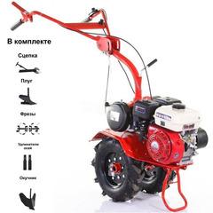 Мотоблок АГАТ (Салют) Л-6,5 с двигателем Lifan 168F-2 6.5 л.с. В комплекте: плуг, окучник, фрезы, сцепка, удлинители осей