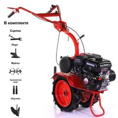 Мотоблок АГАТ (Салют) Л-7,0 с двигателем Lifan 170F 7.0 л.с. В комплекте: плуг, окучник, фрезы, сцепка, удлинители осей