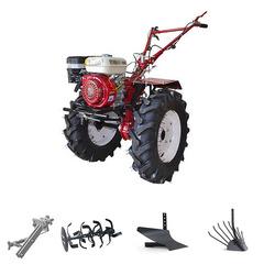 Мотоблок (культиватор) Stark ST-1000 с двигателем GX210, 8 л.с., колеса 7.00*12. В комплекте: (фрезы, сцепка, плуг, картофелевыкапыватель)
