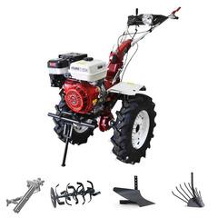 Мотоблок (культиватор) Stark ST-1800KM-L с пониженной передачей и двигателем GX460, 18.5 л.с., колеса 7.50*12 универсальный диск, фара, бампер. В комплекте: (фрезы, сцепка, плуг, картофелевыкапыватель)