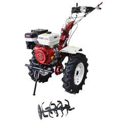 Мотоблок (культиватор) Stark ST-1800KM-L с пониженной передачей и двигателем GX460, 18.5 л.с., колеса 7.50*12 универсальный диск, фара, бампер