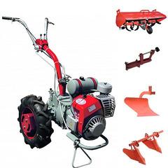 Мотоблок Мотор Сич МБ-6 с ВОМ,  колесами 6.0 х 12, дифференциалом, двигателем Д-250 5.5 л.с. В комплекте (грузы, зип, сцепка, плуг, двойной окучник, почвофреза)