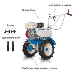 Мотоблок Нева МБ-23 H-9.0 PRO с профессиональным двигателем Honda GX-270 9.0 л.с.