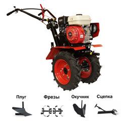 Мотоблок ОКА МБ-1Д1М19 с двигателем Lifan 7,0 л.с. В подарок (плуг, фрезы, сцепка, распашник)