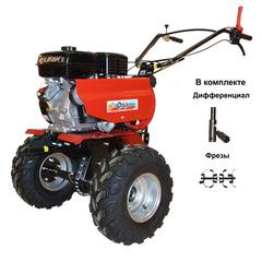 Мотоблок ОКА МБ-1Д1М19 с колесами 19х7.00*8, двигателем Lifan 7,0 л.с. В подарок (фрезы, дифференциальные удлинители)