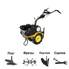 Мотоблок Целина МБ-501 с двигателем Вымпел ДБГ-6,5 л.с. В комплекте: фрезы, плуг, окучник, сцепка