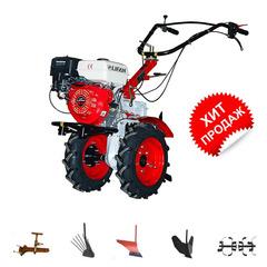 Мотоблок Угра НМБ-1Н14 с ВОМ и двигателем Lifan 177F 9,0 л.с. В подарок (плуг, фрезы, сцепка, распашник, картофелевыкапыватель)