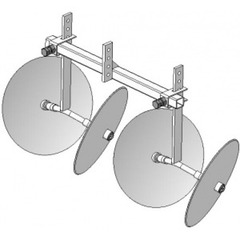 Окучник двухрядный дисковый раздвижной