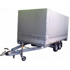 Прицеп автомобильный, c тентом, двухосный, Трейлер 4,0 КПП ++ (4000*2000, 2000 кг., R13)