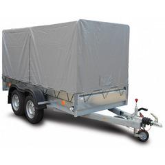 Прицеп автомобильный, с тентом, двухосный, Трейлер 3,2 + - (3200*1300, 1300 кг., R13)