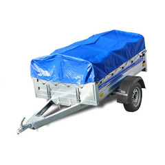 Прицеп автомобильный, с тентом, одноосный, Кремень Бизнес (2000х1290, 740 кг., R13)