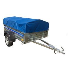 Прицеп автомобильный, с тентом, одноосный, Кремень Профи (2000х1280, 740 кг., R13)