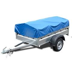 Прицеп автомобильный, с тентом, одноосный, Кремень Стандарт плюс (2000х1290, 740 кг., R13)