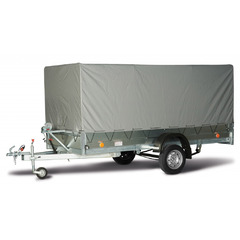Прицеп автомобильный, с тентом, одноосный, Трейлер 3,5х1,4 (3500*1400, 750 кг., R13)